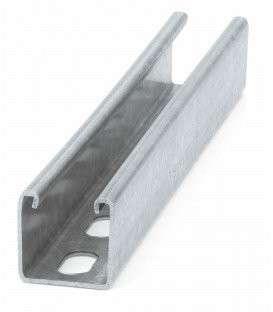 Guía perforada y reforzada , 2000 mm