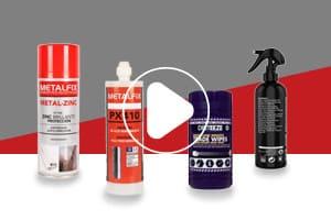 Metalfix vídeos - Conjunto de productos químicos